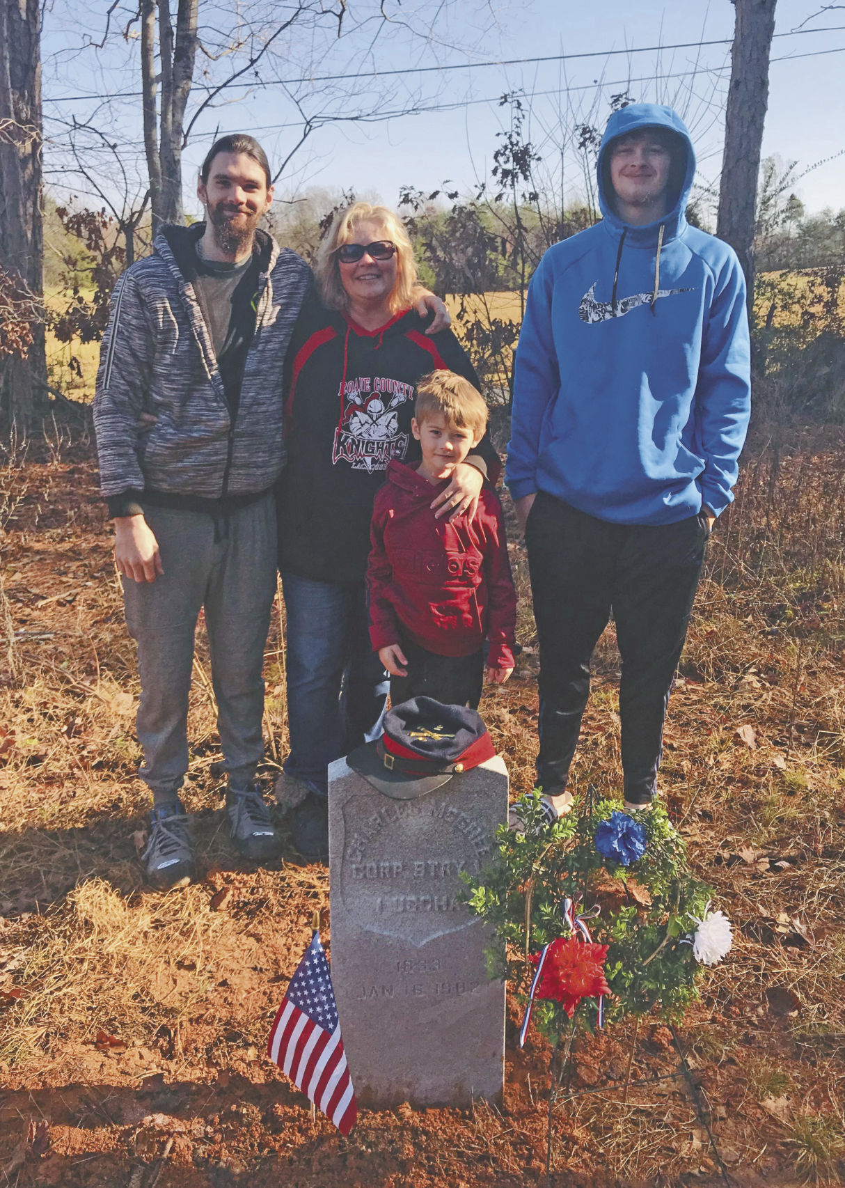 Military marker installed for Cpl. McGhee