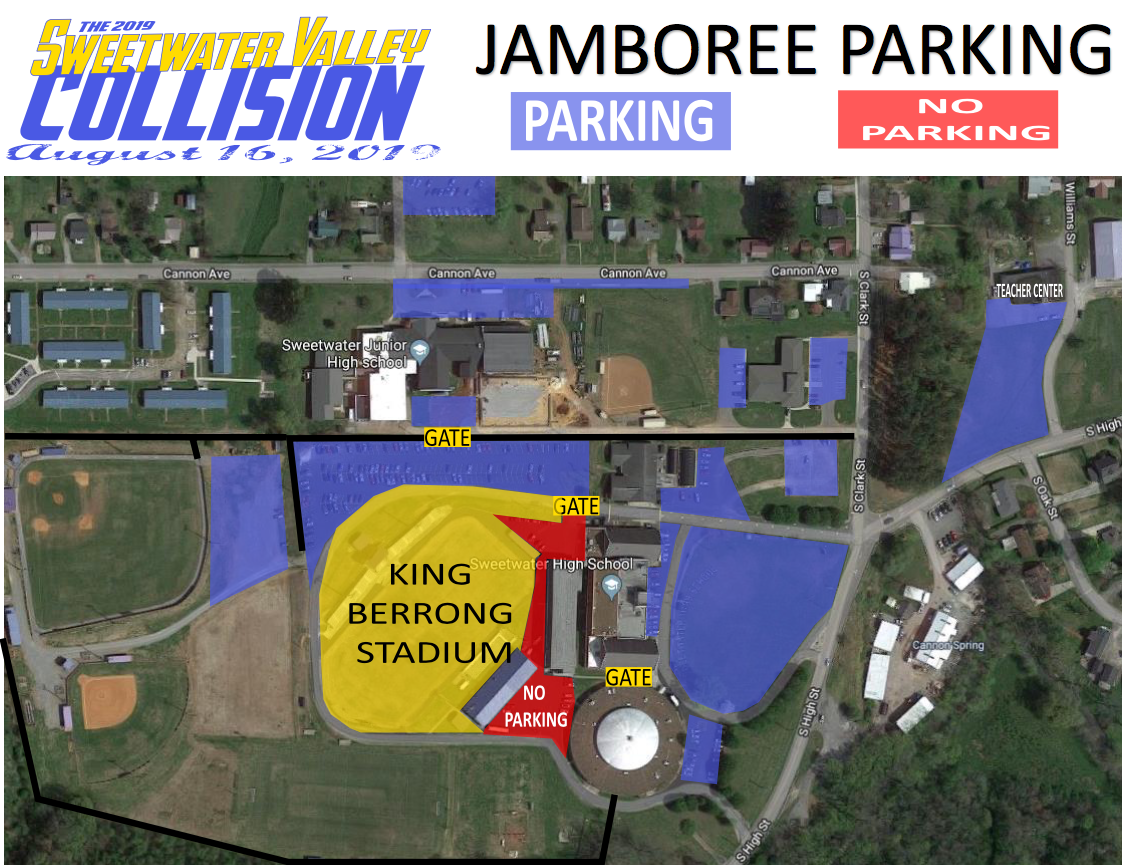 Sweetwater Jamboree parking map