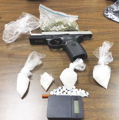 Alleged meth, marijuana, gun found in truck
