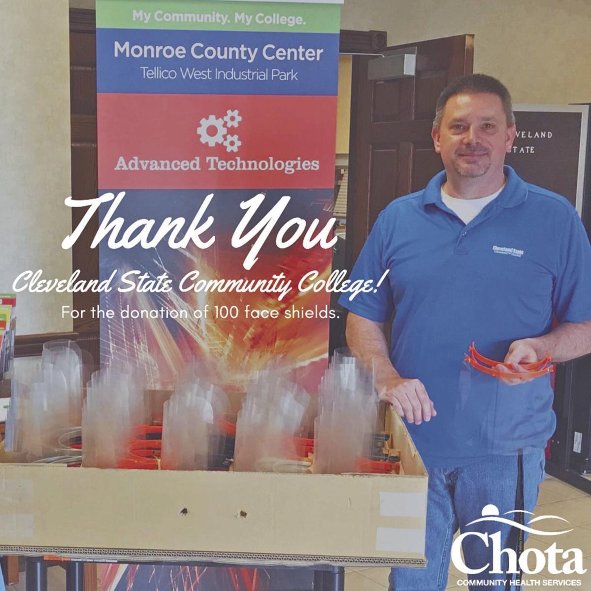CSCC donates face shields to local health care facilities