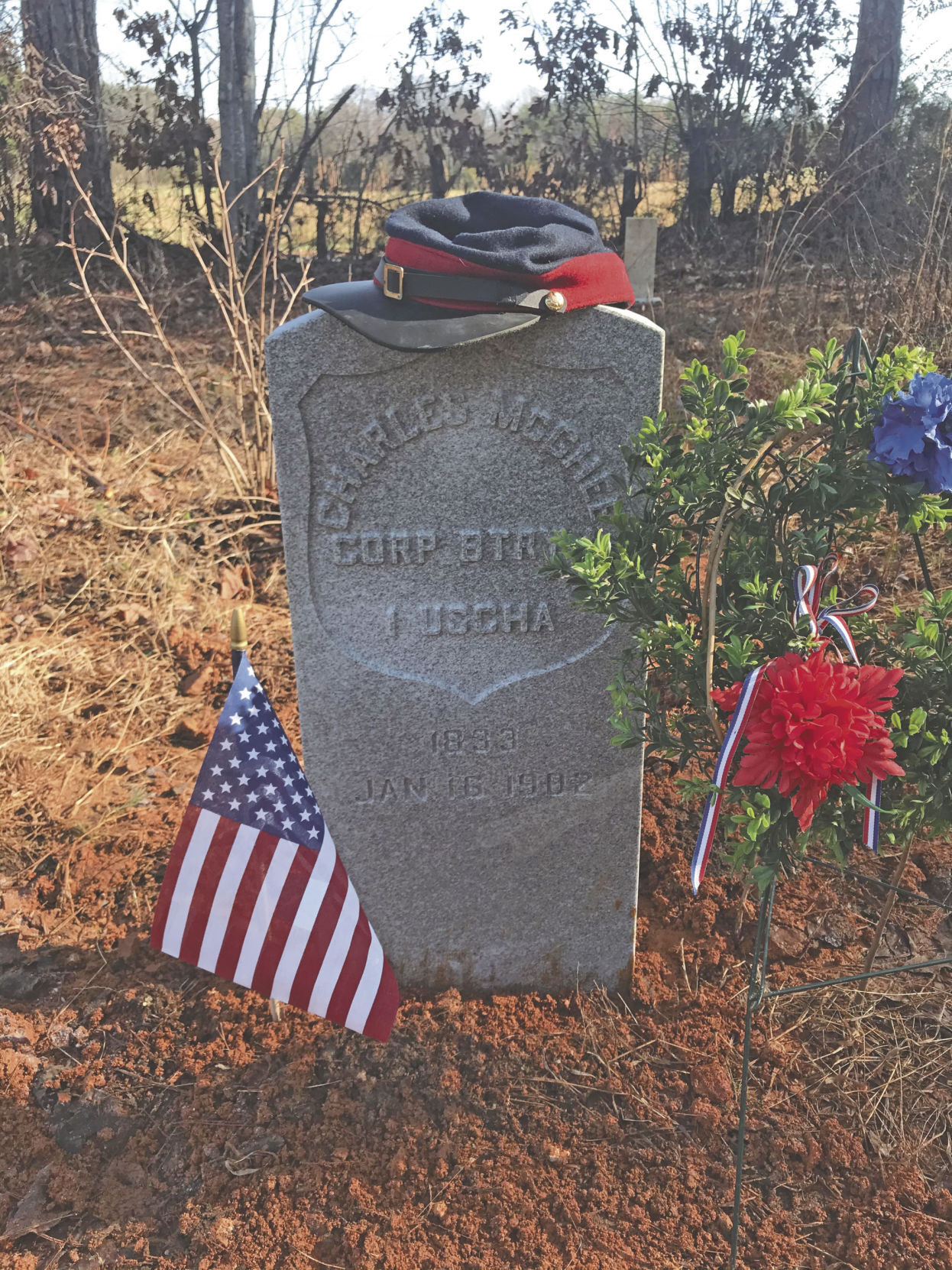 US Military marker installed for Cpl. McGhee