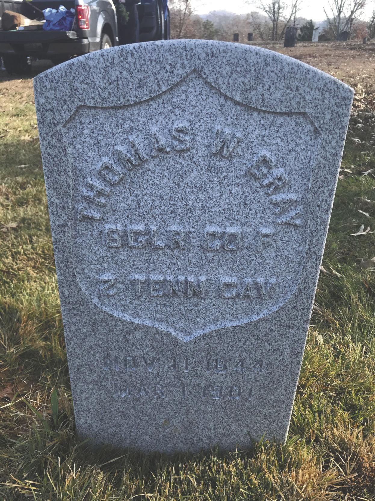Military marker of Thomas W. Gray replaced