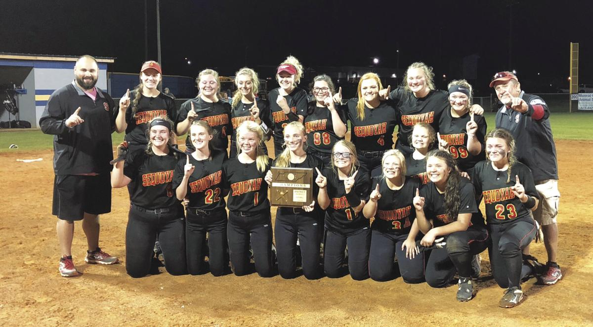 Sequoyah softball district champions