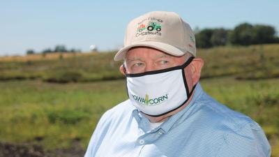 Sonny Perdue spoke at a farm near Radcliffe