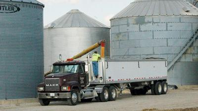 Truck loading at bins