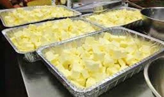 Butter fills trays