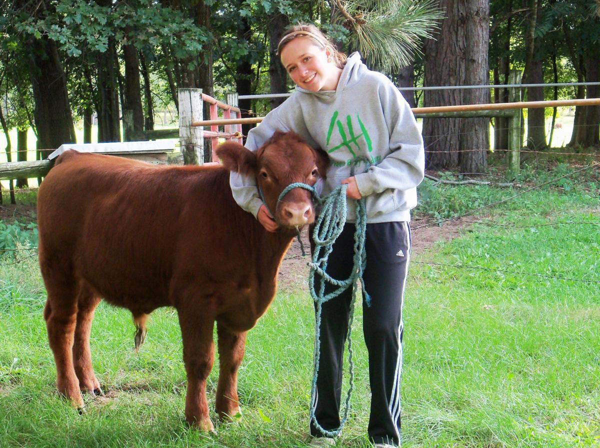 Jamie Sawle with steer