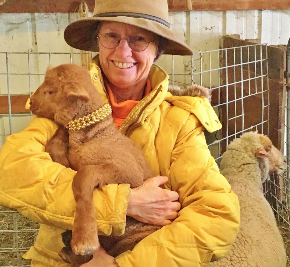 LindaDee Derrickson and lamb
