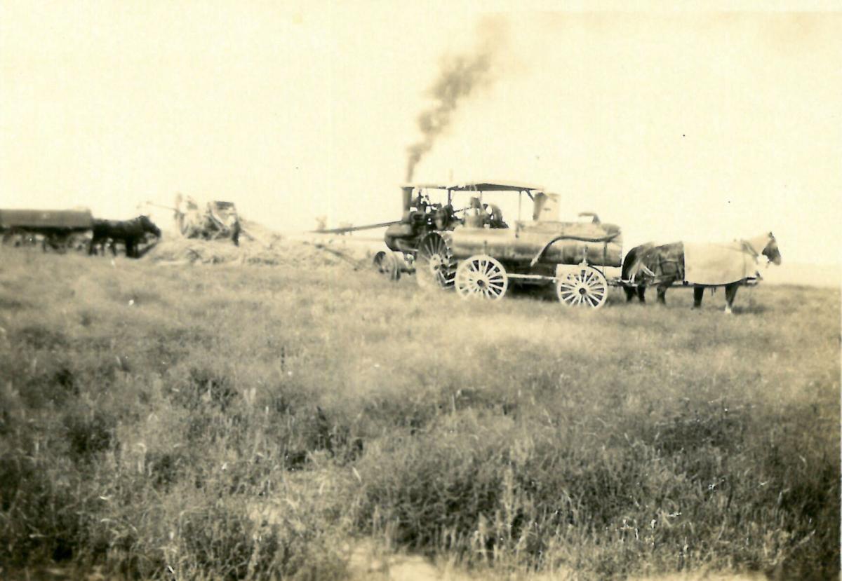 Steam threshing history