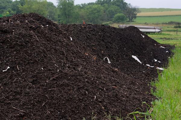Soil amendments compost pile