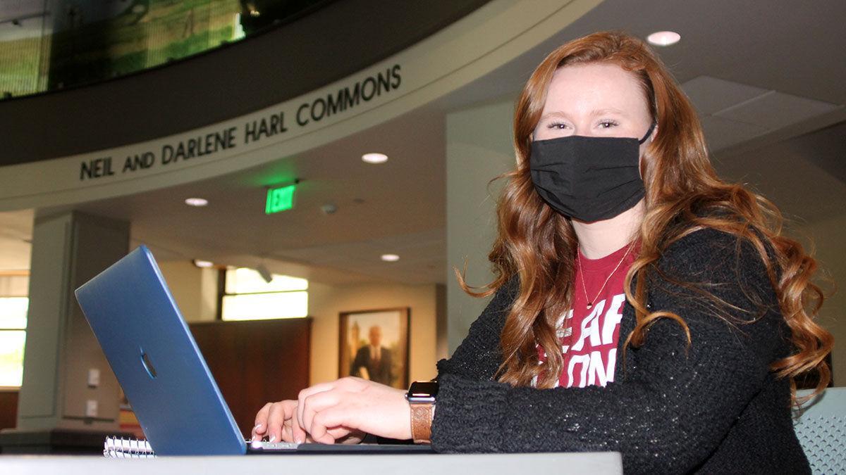 Lydia Johnson with mask