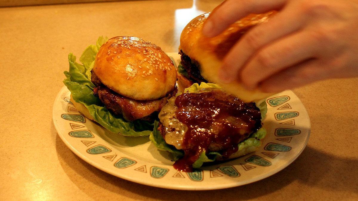 Sauced burger