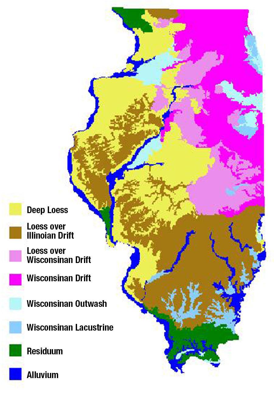 Illinois NRCS soil map