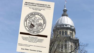 Illinois tax leaflet with State Capital