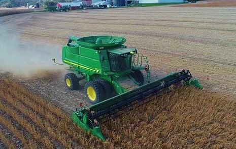 Soybean harvest at Wegner Family Farms