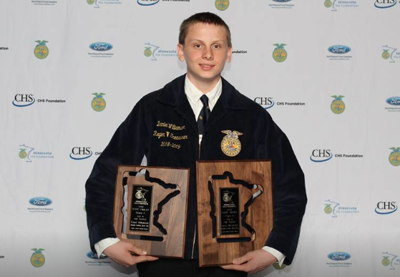 Daniel Williamson, 2019 MN FFA Star in Agriscience from Atwater-Cosmos-Grove City FFA