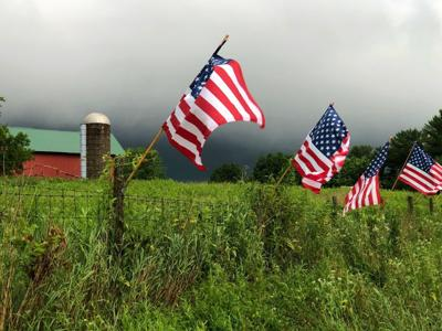 Flags on farm (file photo from Wisconsin)