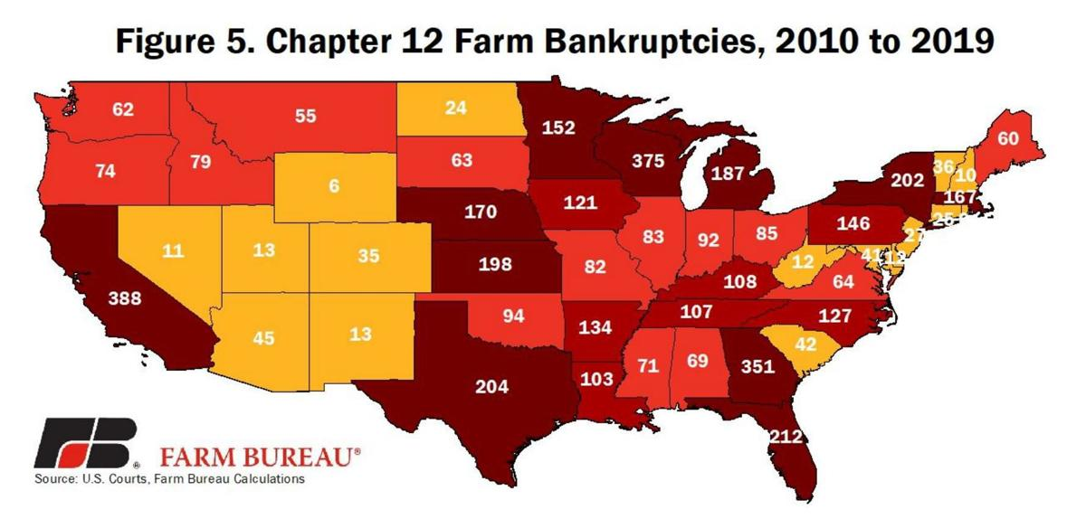 Chapter 12 Farm Bankruptcies 2010 to 2019