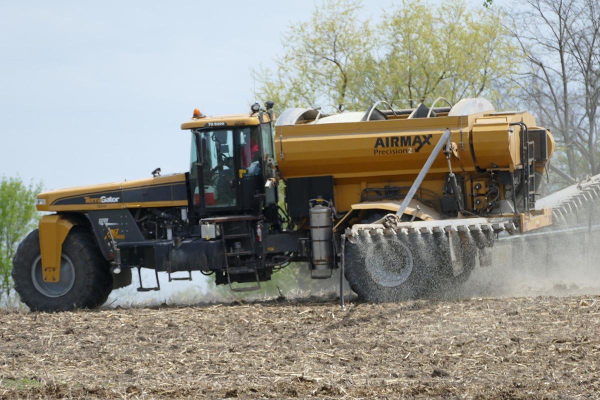 Fertilizer applied in field