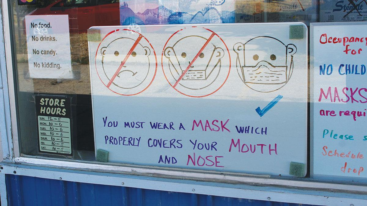 Safety watch mask sign