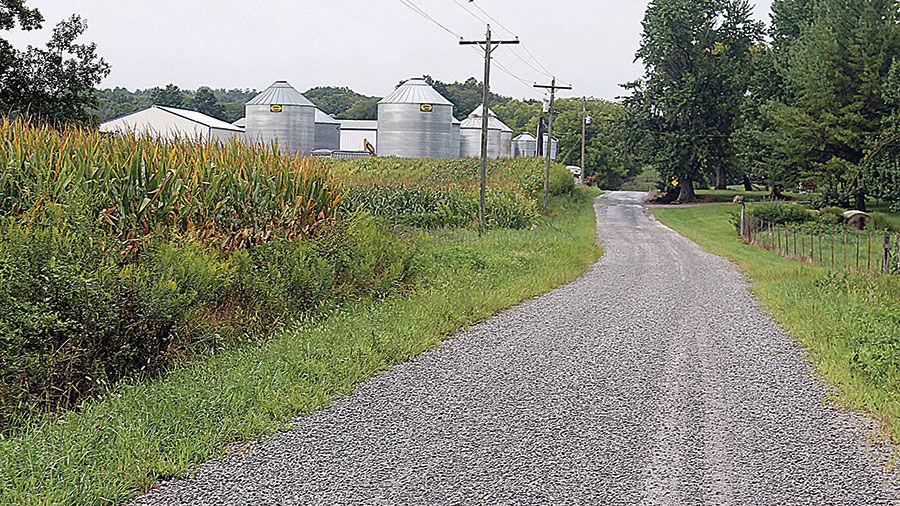 Illinois gravel road