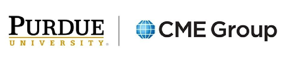 Purdue University and CME Group logos