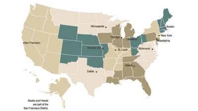 Federal Reserve economic conditions map