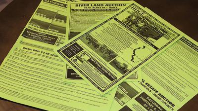 Auction fliers