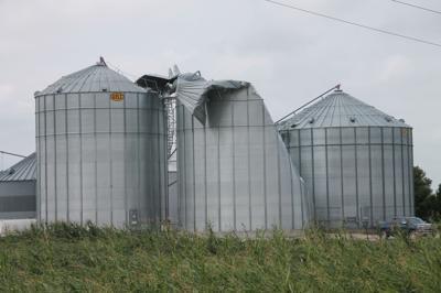 Derecho grain bins