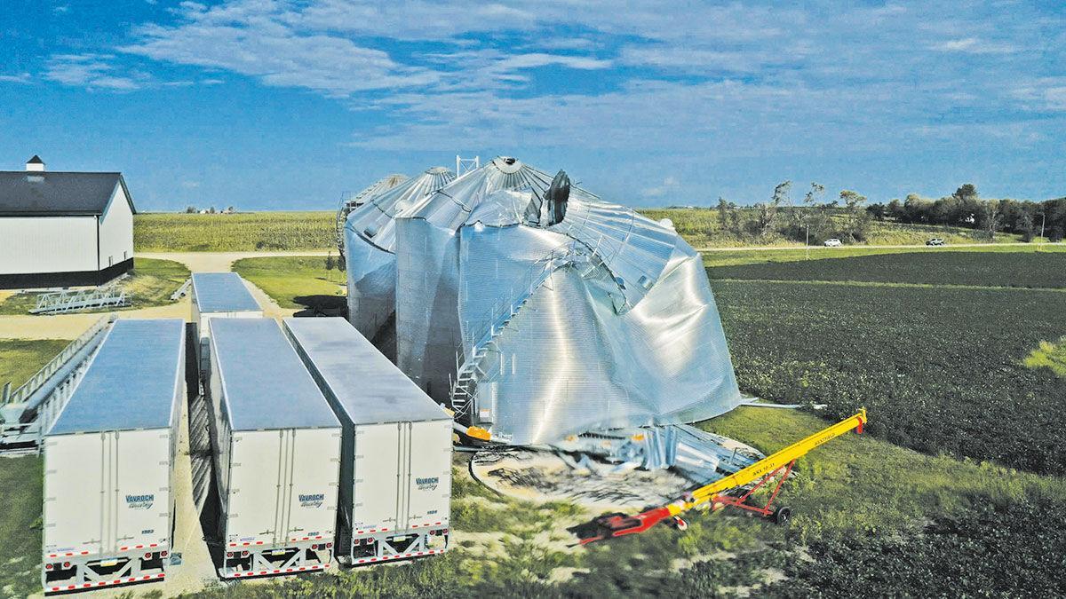 Grain bin damage