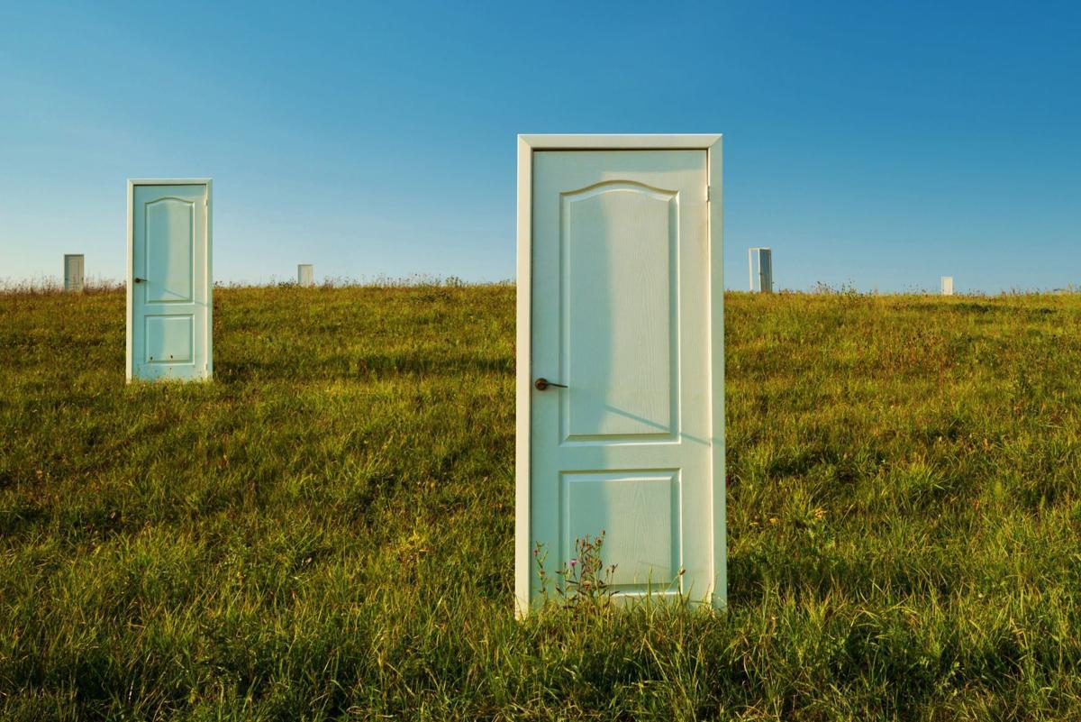 Choice -- many doors in a green field
