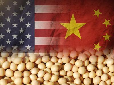 U.S. and China flags with soybeans (copy)