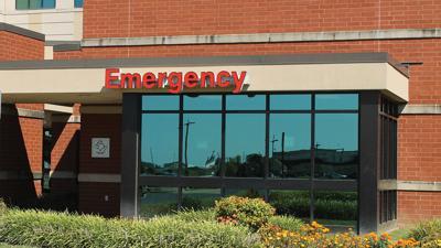 Emergency room entrance sign