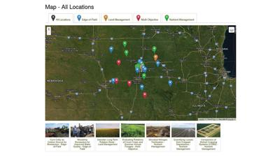 Iowa water quality research map
