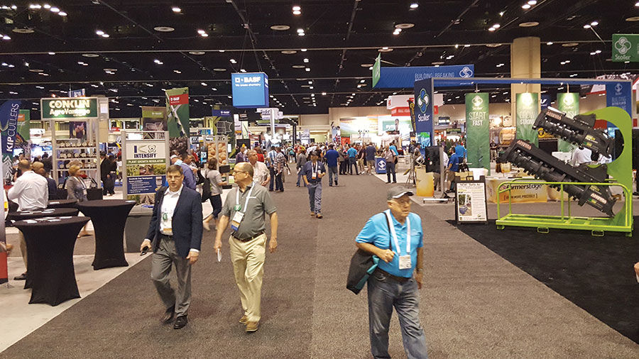 trade show at Commodity Classic