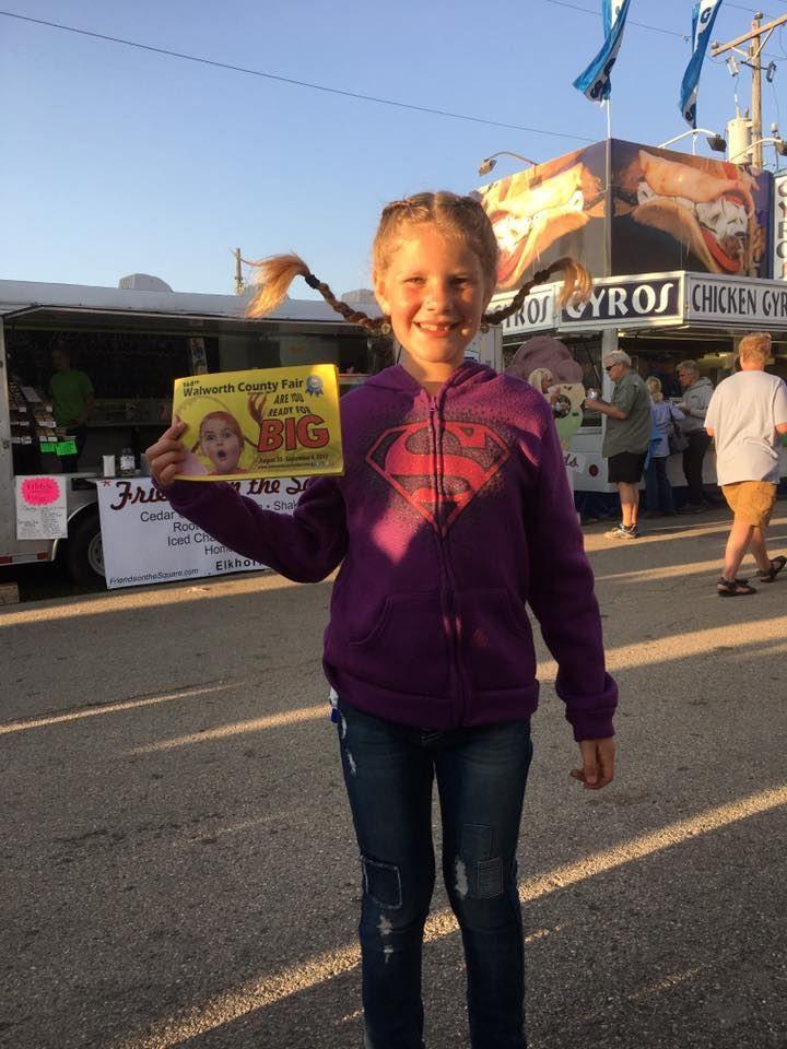 Little girl at Walworth County Fair