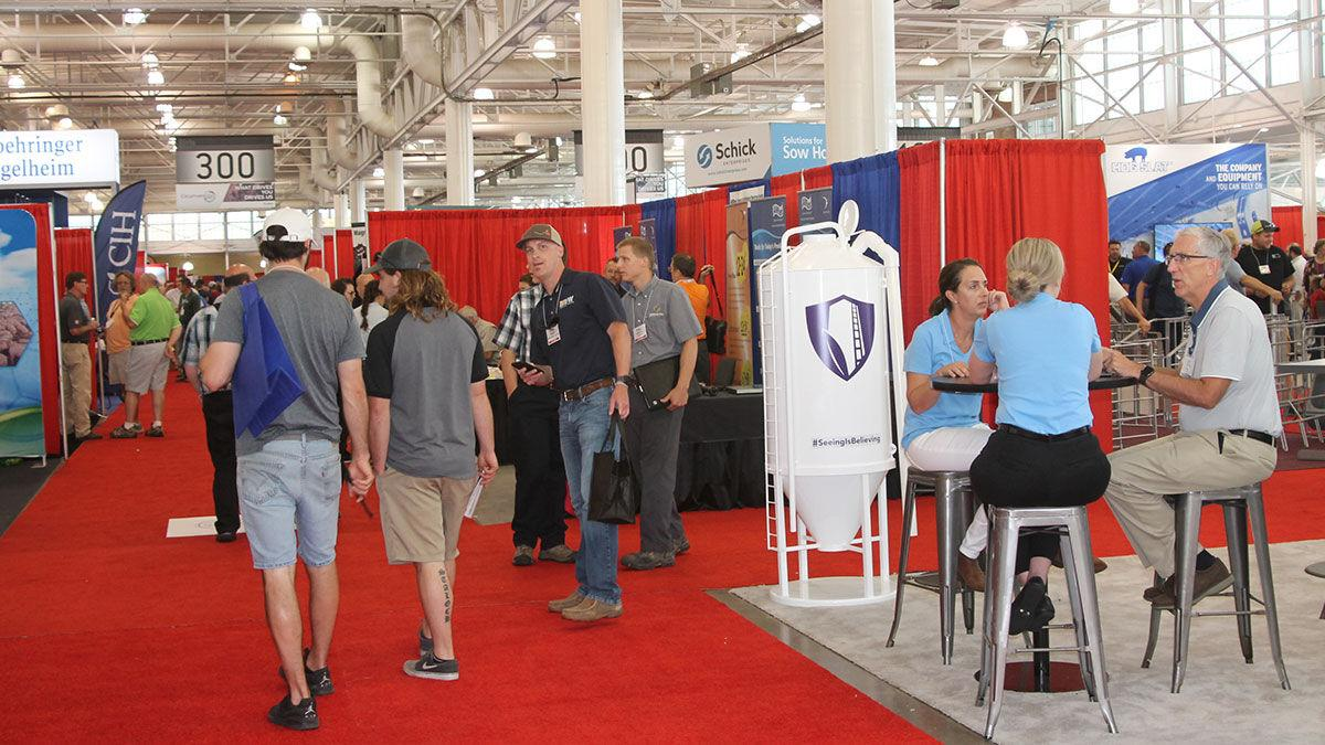 trade show at the World Pork Expo