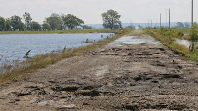 SW Iowa road damage from flood