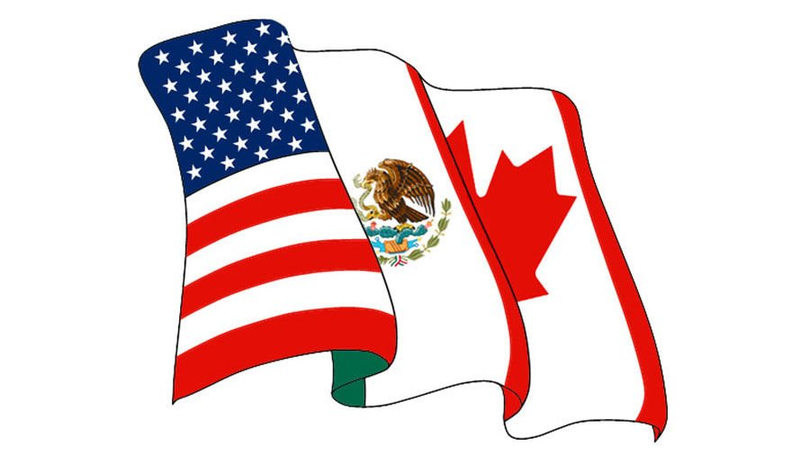 NAFTA flags logo