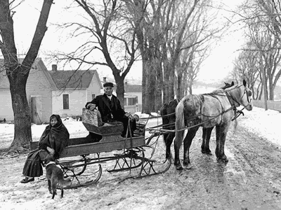 Sleigh parties of the 19th Century