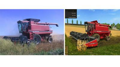 Farming Simulator soybean harvest