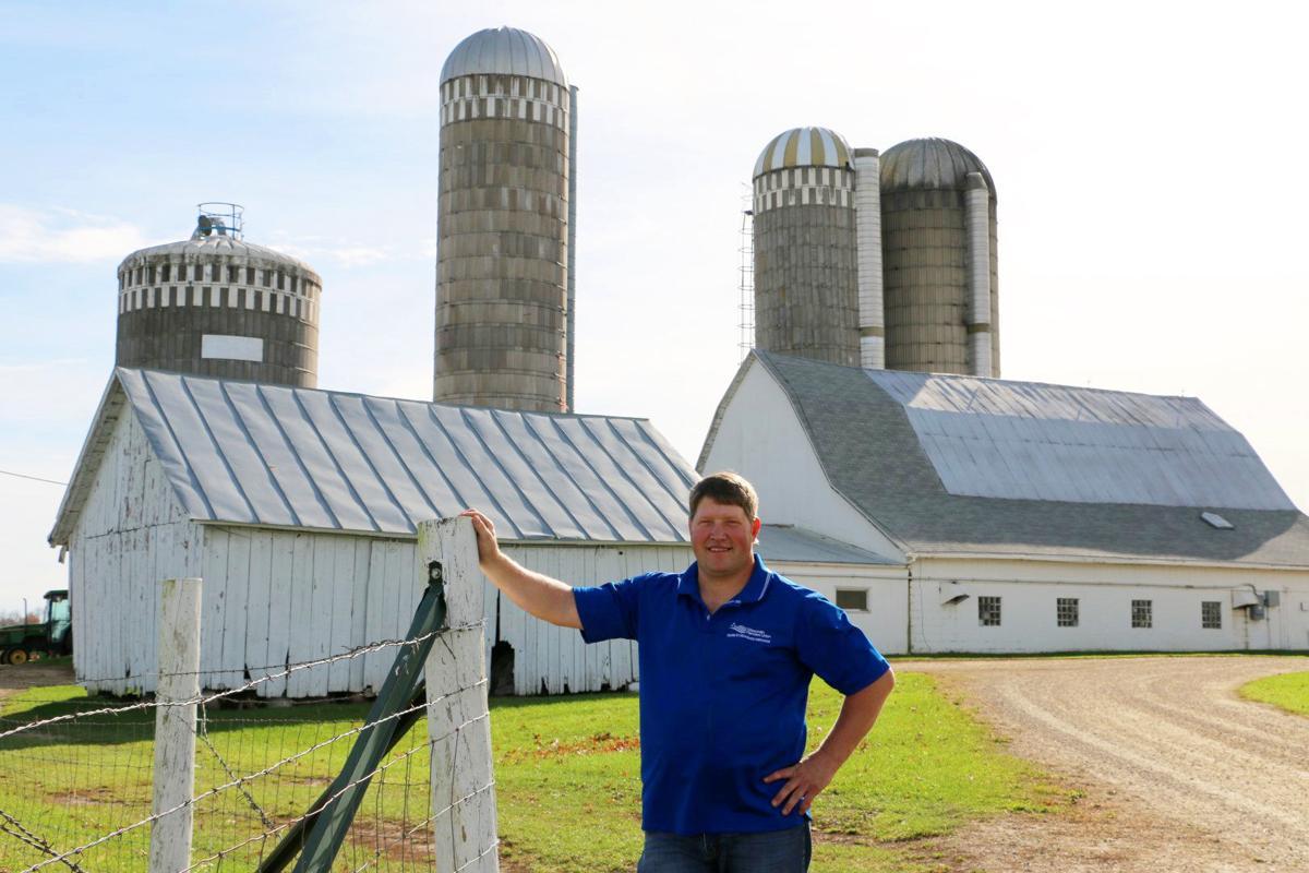 Darin Von Ruden on his farm