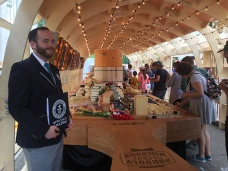 Mike Marcotte with cheeseboard