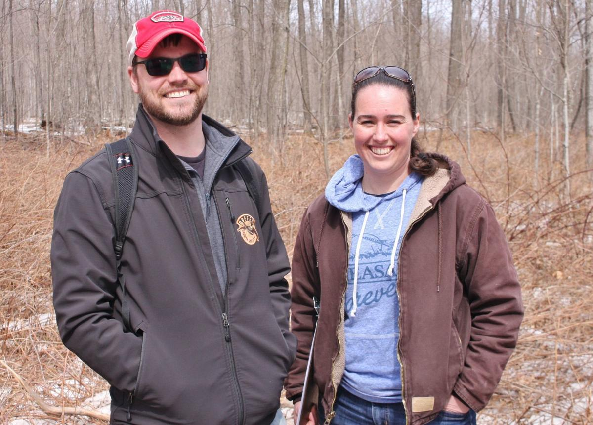 Dan Hoff, Forest Wildlife Specialist, and Becky Brathal, Central Wisconsin Farm Bill Biologist