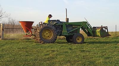 Fertilizing pastures