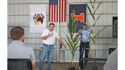 shorter stature corn at Agronomy Day in Champaign