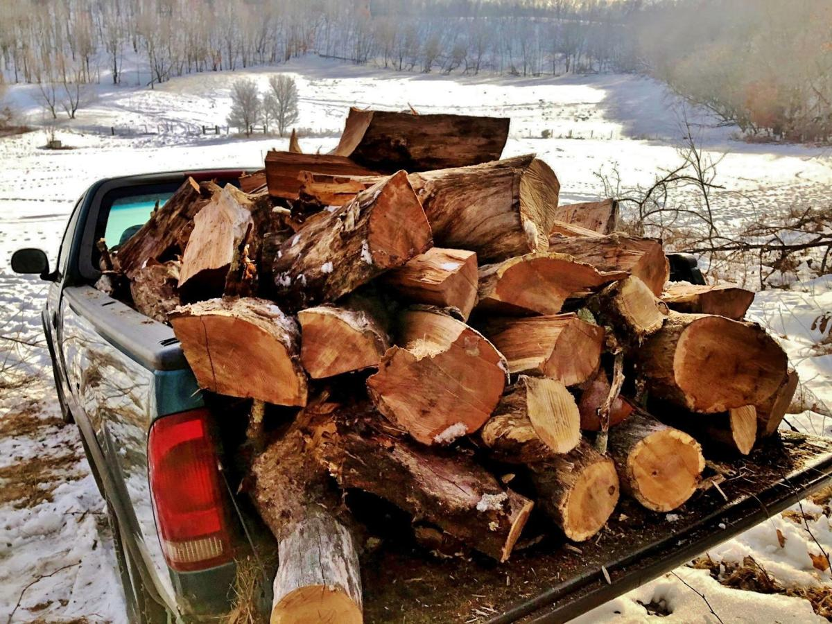 Truck loaded with wood