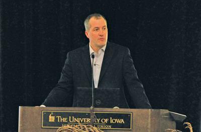 Mike Naig spoke at the 2019 Iowa Organic Conference