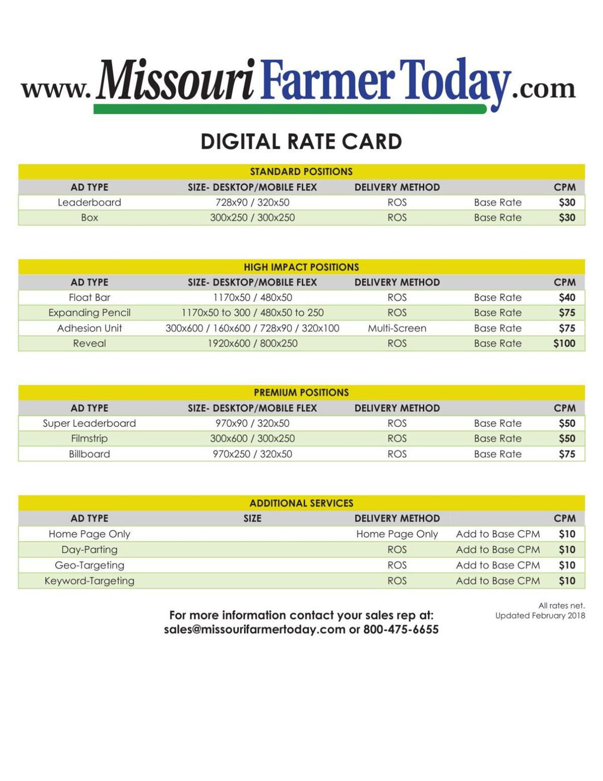 Online Advertising Rates | Advertise With Us | agupdate com