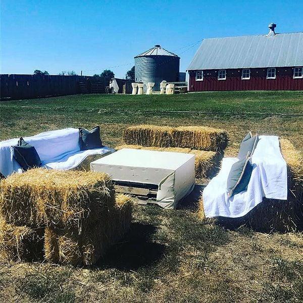 Galyen Farms hay bales